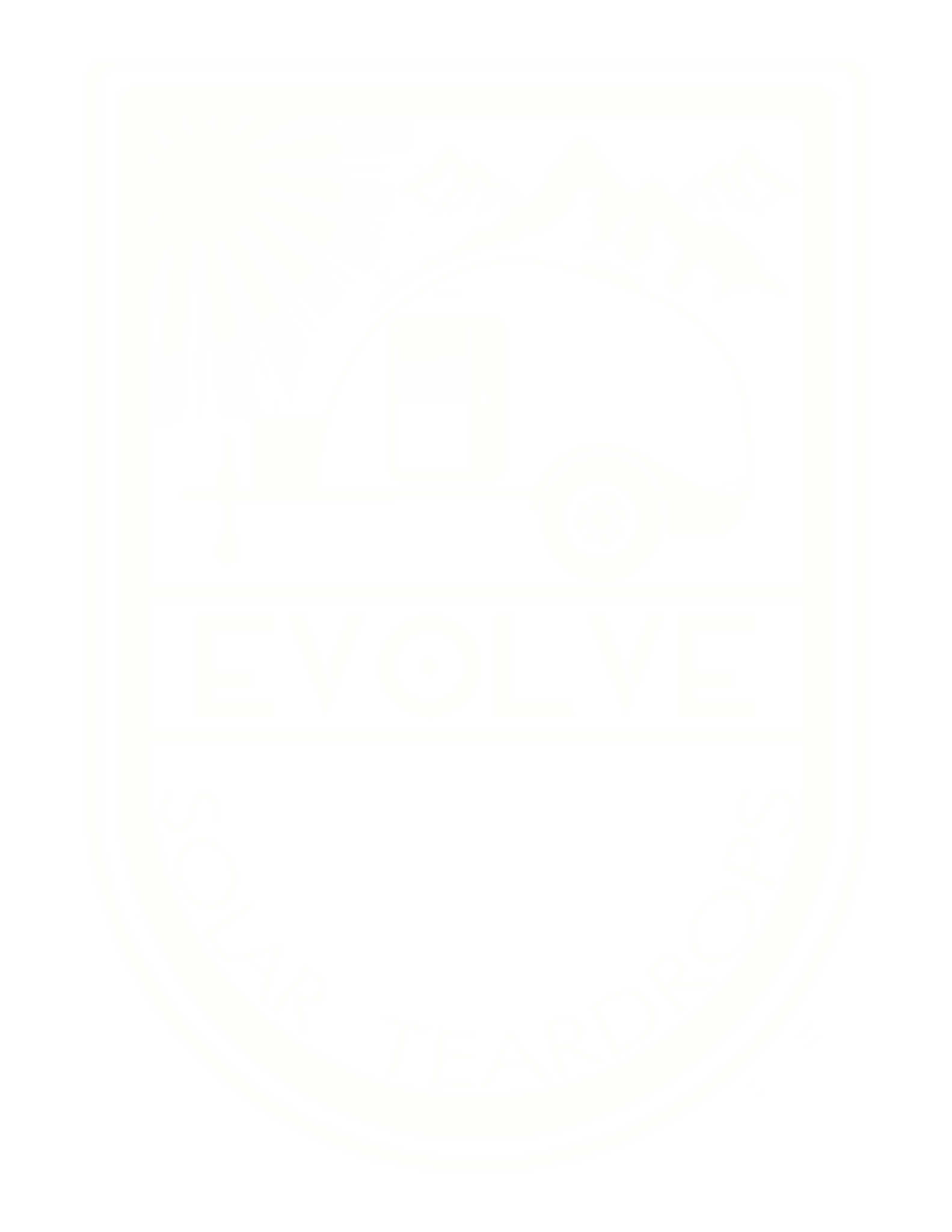 The Evolve Solar Teardrop Trailer Evolve-White-Shield